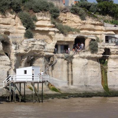 Les grottes de Meschers (Régulus et Matata) vues du large