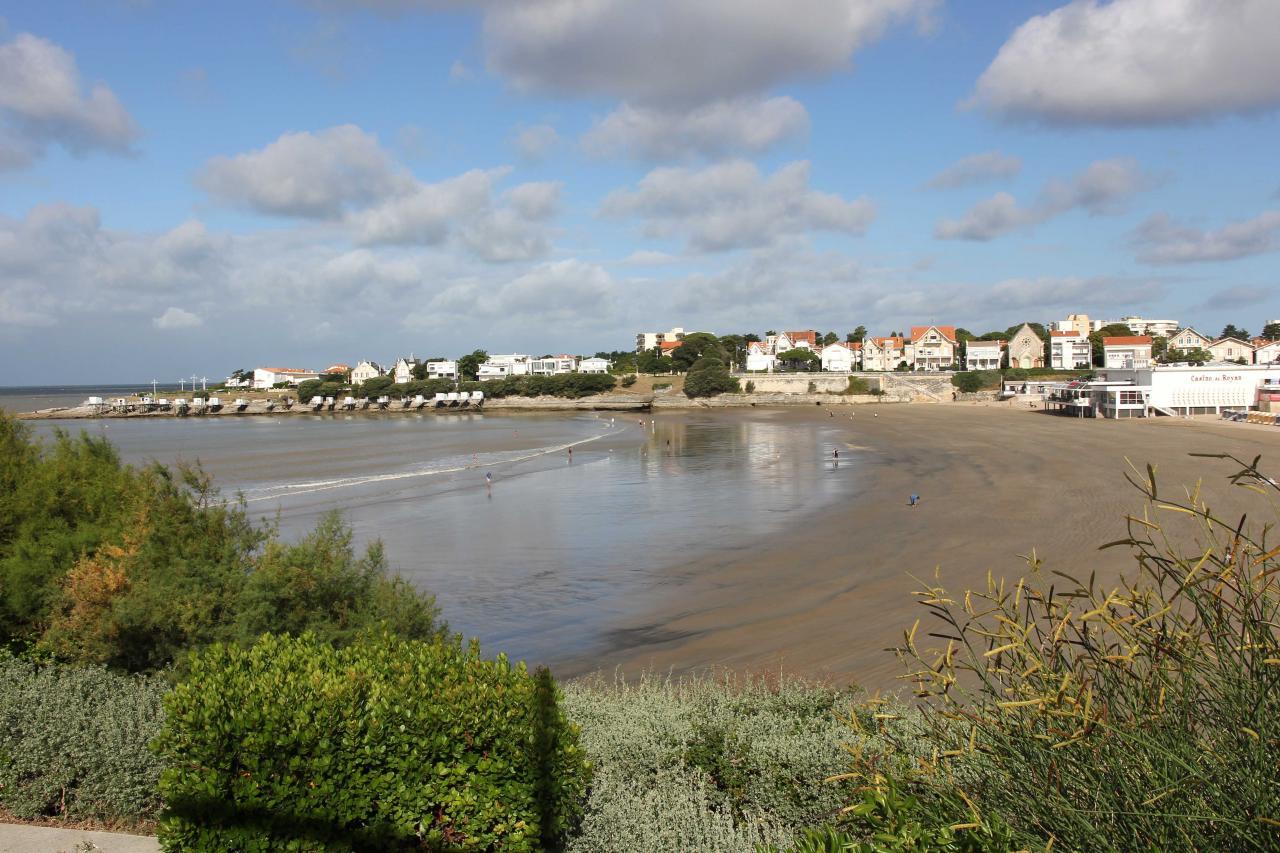 La plage de Pontaillac à Royan