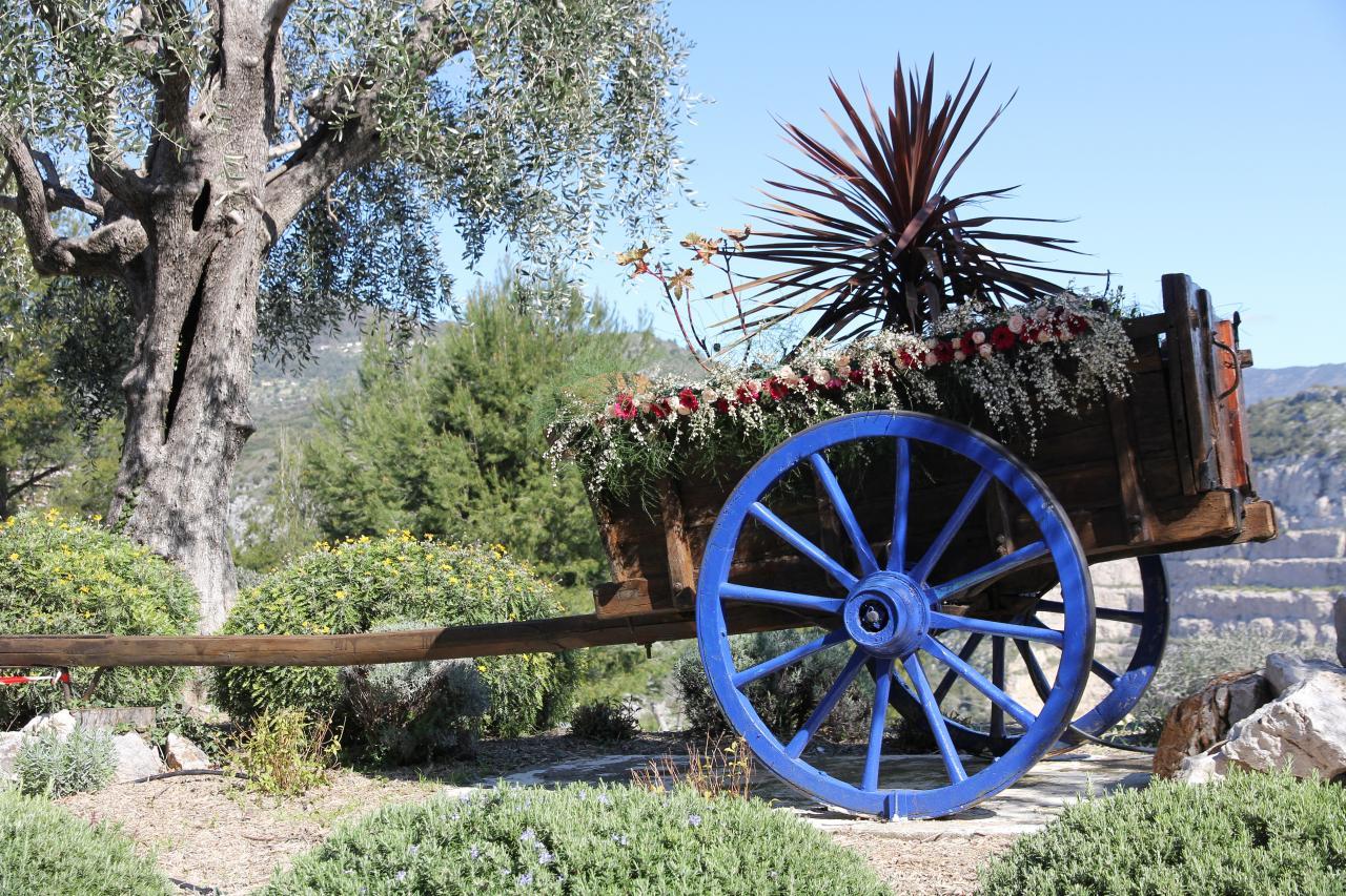 bleu comme ... la charrette à Falicon (Nice)