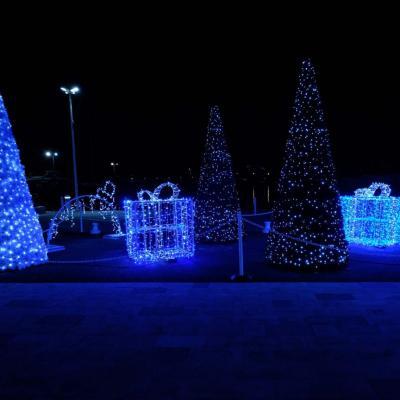 Bleu comme ... les cadeaux de Noël d'Antibes devant le Fort Carré