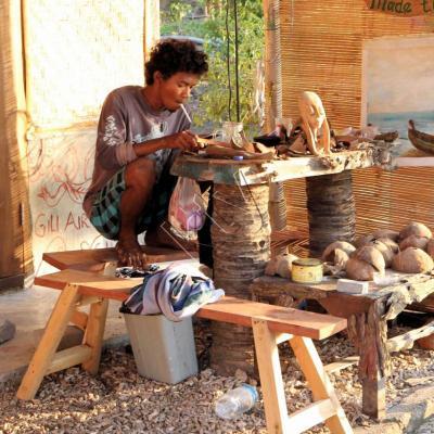 Beaucoup d'artisans sur l'île