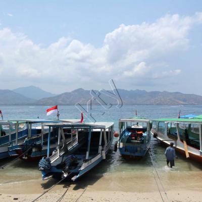 face à Lombok, paysages magnifiques