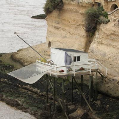 Point de vue des grottes sur l'estuaire et la presqu'ile de Talmont