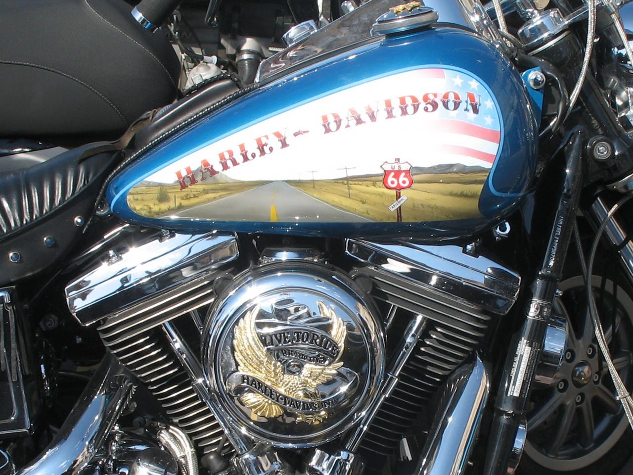 bleu comme ... les Harley à St Trop