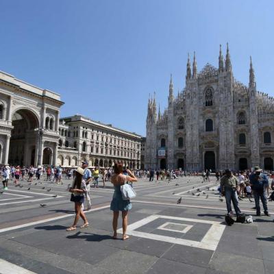 et là on fait wahooo ... devant le Duomo !! témoin de six siècles d'histoire