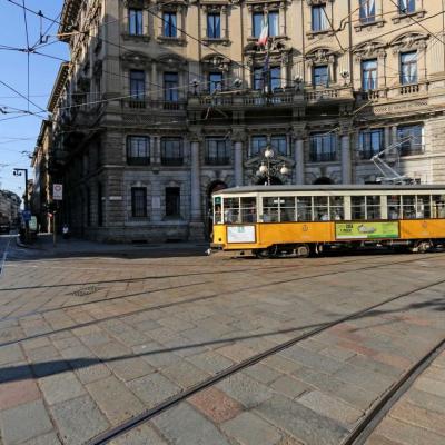 la piazza Cordusio, le centre administratif et financier de Milan