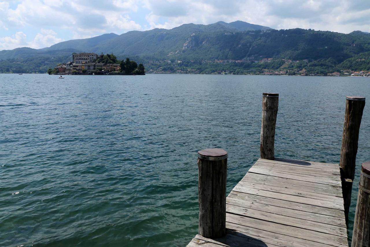 Orta est proche du lac Majeur (20 kms) je repars à mon point de chute