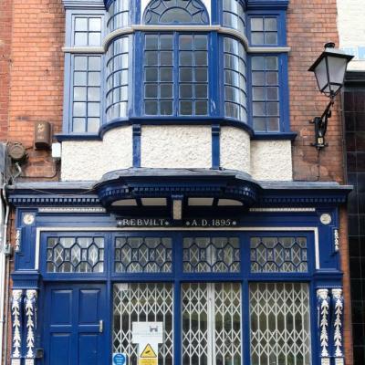 Bleu comme ... cette façade d'immeuble à Dublin (Irlande)
