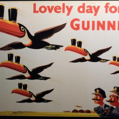 Au niveau 2, la pub Guinness et tous les objets publicitaires