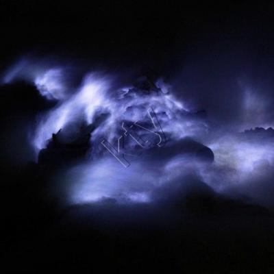 """le feu bleu"" du Kawah Ijen"