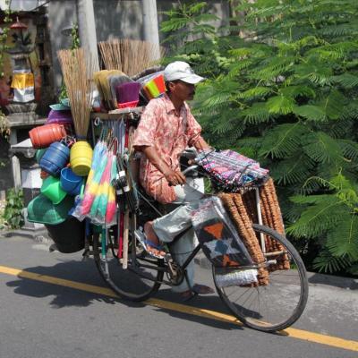 Tout ce que l'on peut transporter sur un deux roues ...