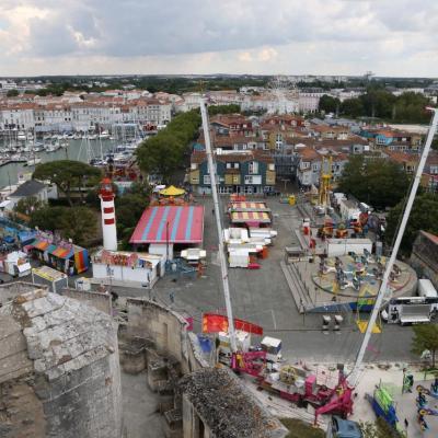 Vue du haut de la tour Saint-Nicolas à 37 m de hauteur