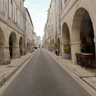 Les arcades du centre ville