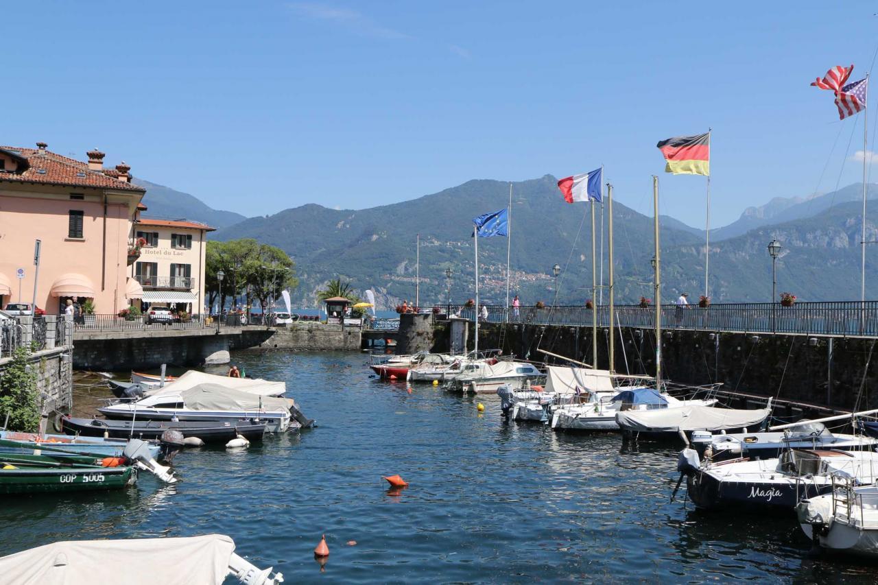 Menaggio et son petit port caractéristique.