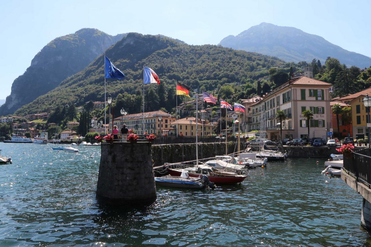 promenade très agréable sur les bords du lac, toujours à Menaggio