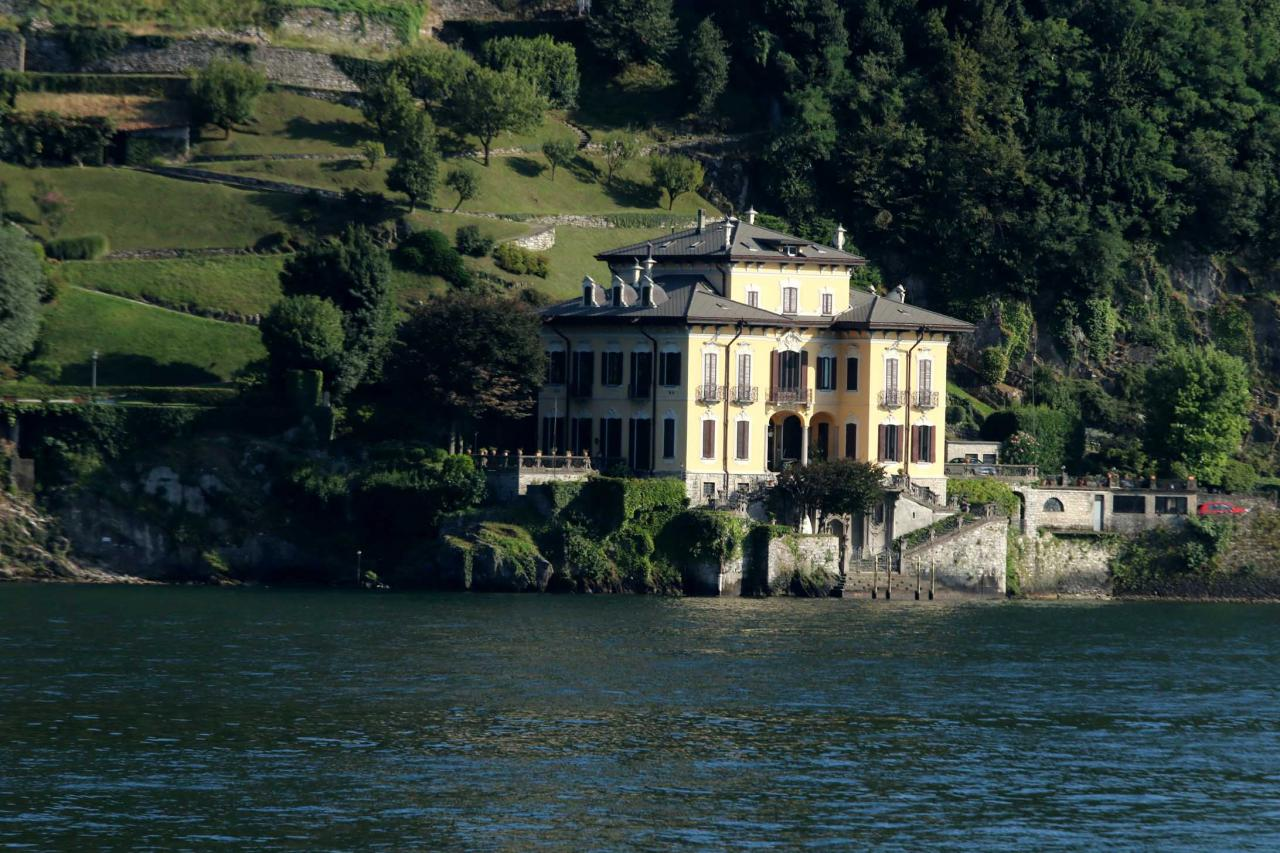 ses somptueuses villas du lac de Côme