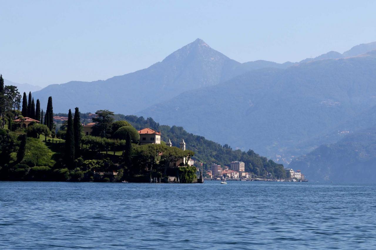 le promontoire de Lavedo où se trouve la villa Balbianello