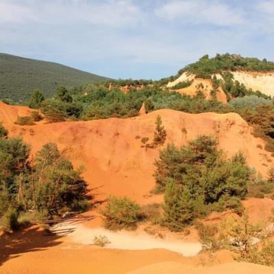 Le Colorado Provençal à Rustrel dans le Vaucluse