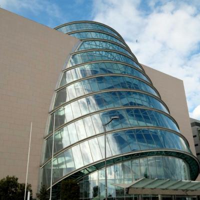 Le Convention Centre Dublin est une structure aux airs de navette spatiale