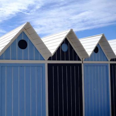 Bleu comme ... les cabines de plage du Lavandou