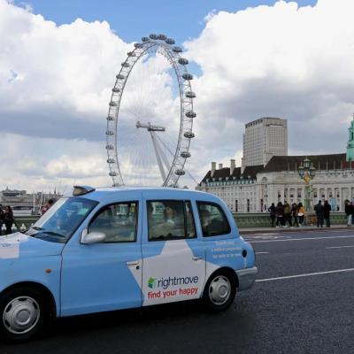 Bleu comme... ce taxi londonien