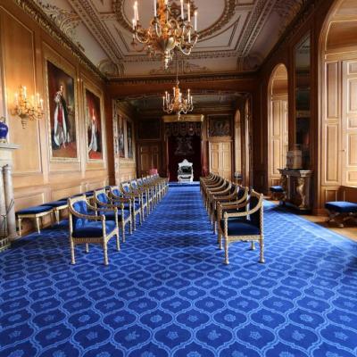 Bleu comme... la salle de la Jarretière dans le château de Windsor (GB)