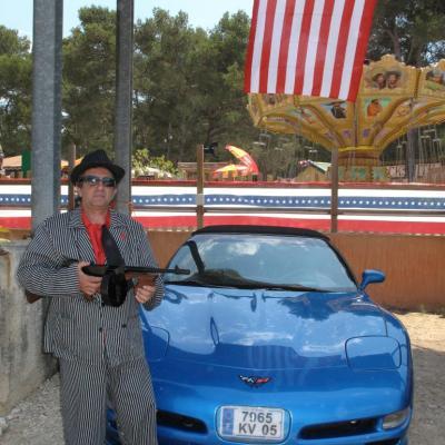 bleu comme ... la voiture de Ok Corral