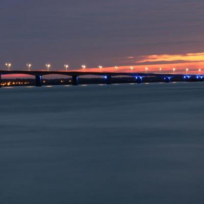 Coucher de soleil sur le Pont d'Oléron de 20h à 21h40