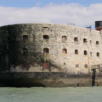 Île d'Oléron et Fort Boyard mais à marée haute (1er mai 2014)