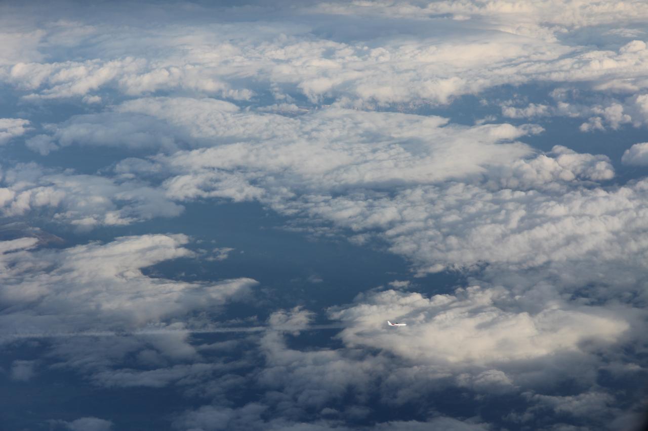 bleu comme ... le ciel lors d'un vol Paris-Nice
