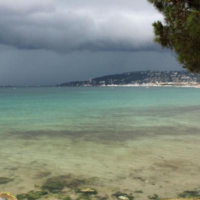 Orages sur Antibes Juan les Pins