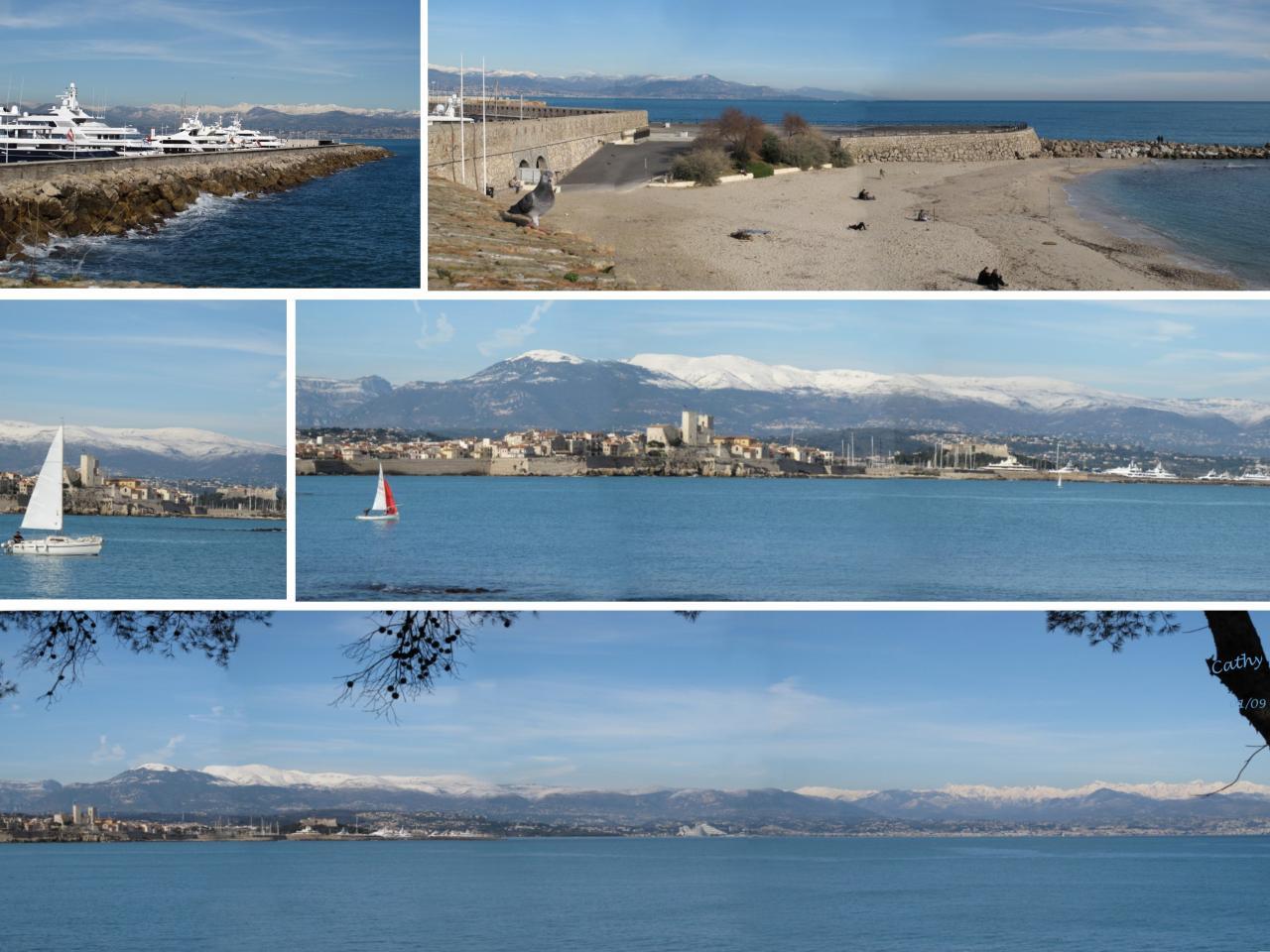 bleu comme ... mon panoramique sur Antibes