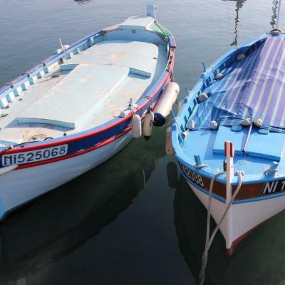 bleu comme ... Les barques du Port du Crouton