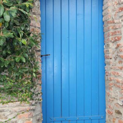 bleu comme ... les portes bleues de Collioure