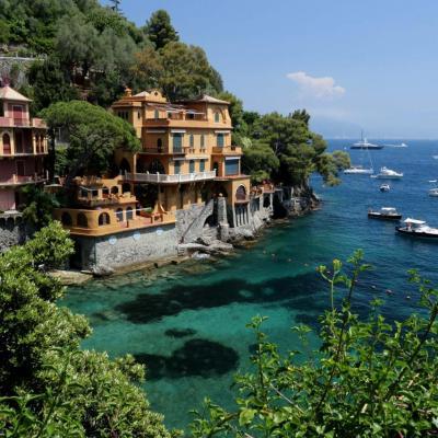 Nombreuses sont les belles villas dans l'anse de Portofino