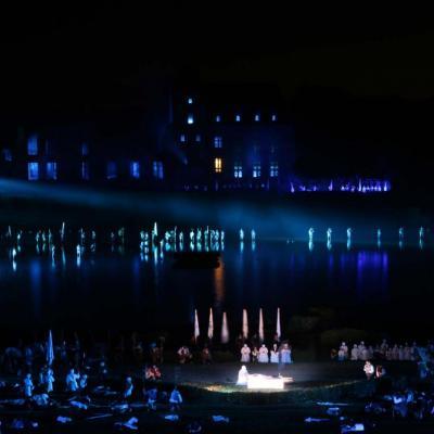 Bleu comme ... une des scènes de la Cinéscénie du Puy du Fou