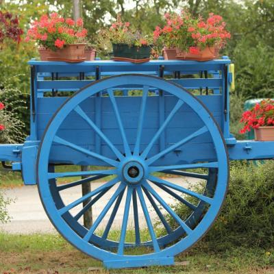 Bleu comme... la charette sur la route de Royan