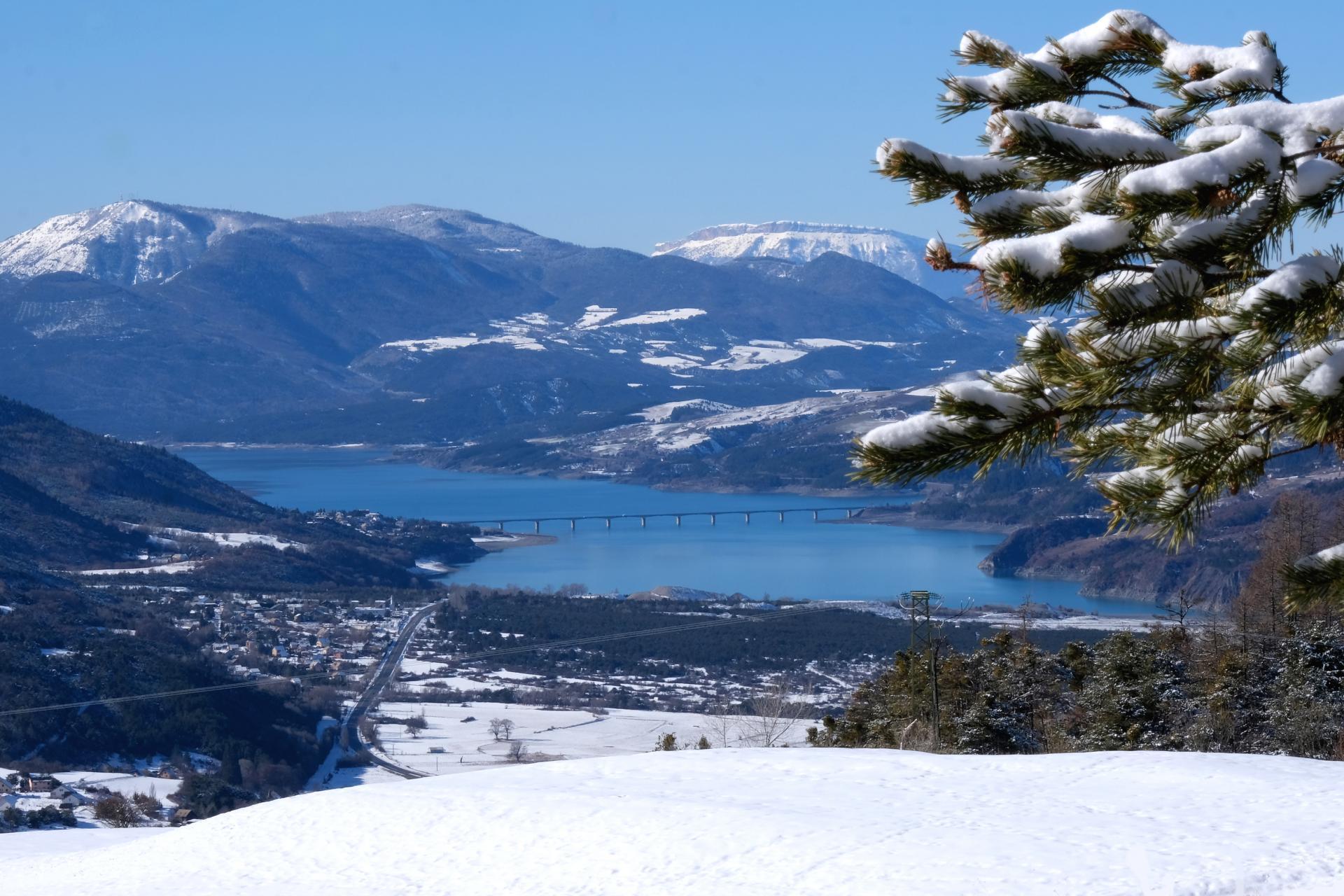 Le lac vu de St Sauveur