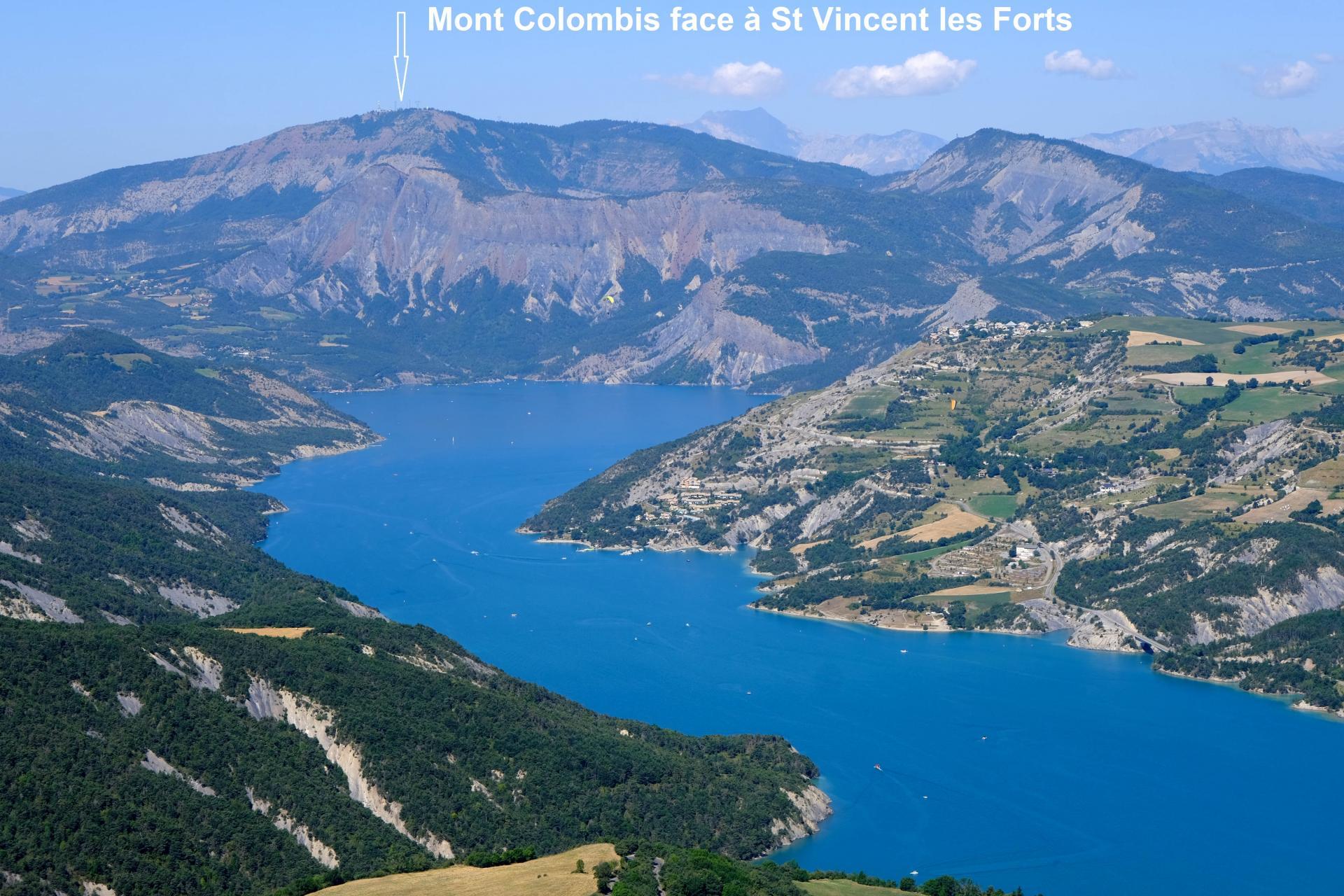 Le Mont Colombis vu de St-Vincent-Les-Forts