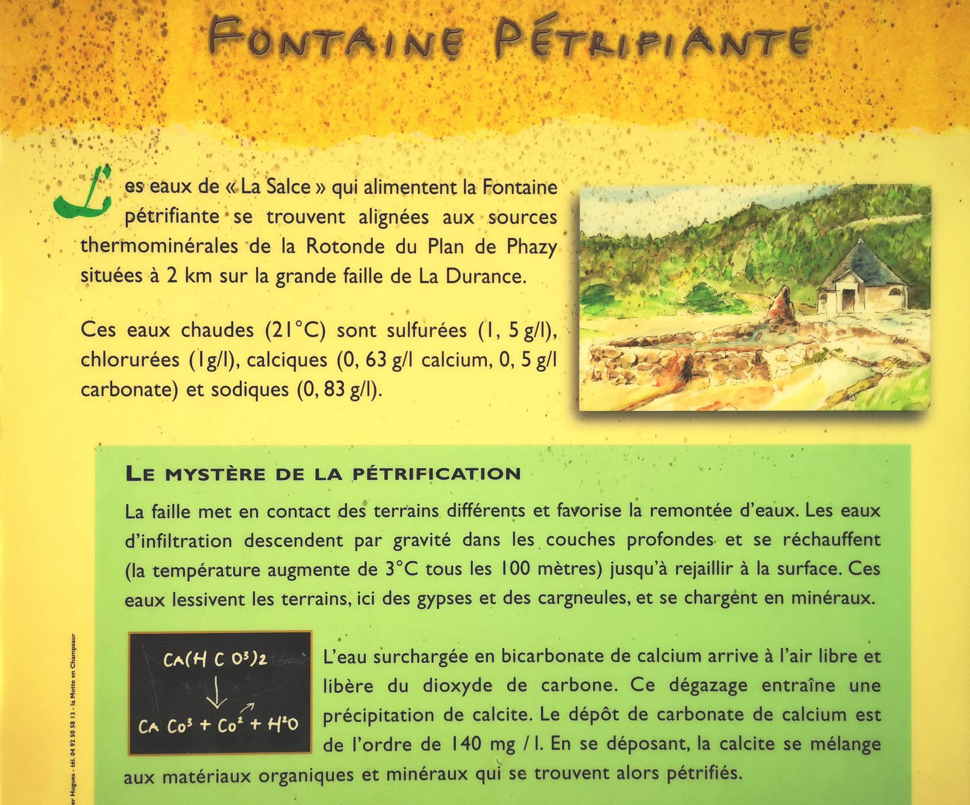 La Fontaine Pétrifiante ... le pourquoi